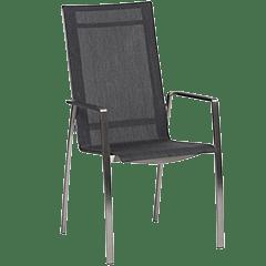 Gartenstühle Edelstahl Textil