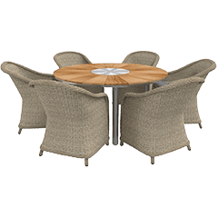 Lounge Set Polyrattan