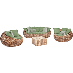 Polyrattan Lounge Sets