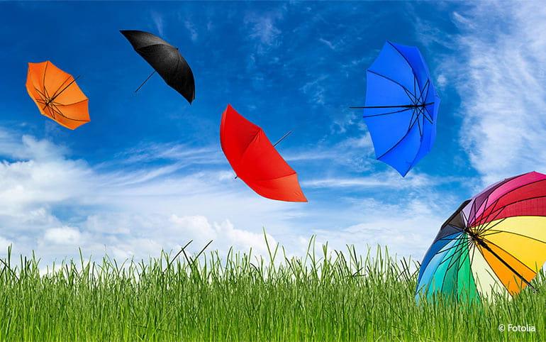 Sonnenschirmbefestigung